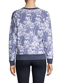 Sol Angeles Palm Tree-Print Pullover Cotton-Blend