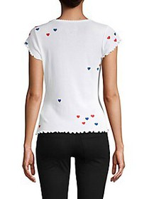 Chaser Heart-Print Cotton Tee