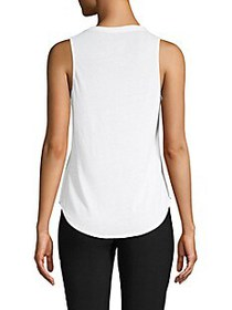 Chaser Graphic Cotton Blend Top