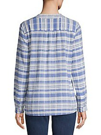 Tommy Bahama Conga Line Cotton Popover Top