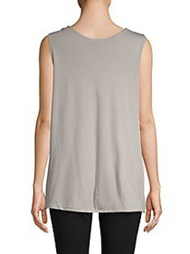 James Perse Twisted-Strap Cotton-Blend Tank Top