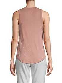 Chaser Embellished Cotton Tank Top