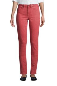 Lands End Women's Mid Rise Straight Leg Jeans Colo