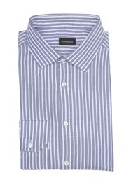 Ermenegildo Zegna Stripe Print Long Sleeve Shirt