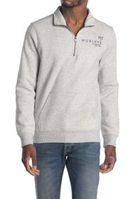 Hurley Quarter Zip Fleece Pullover Sweater