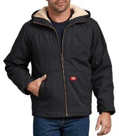 Dickies Duck Sherpa-Lined Hooded Jacket for Men