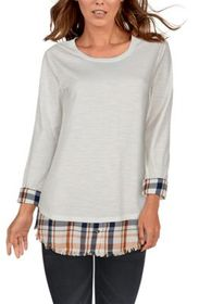 Natural Reflections Layered 2-For Knit Long-Sleeve
