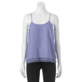 Juniors' Candie's® Scalloped Crochet Tank Top