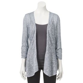 Juniors' Candie's® Ruched Peplum Cardigan