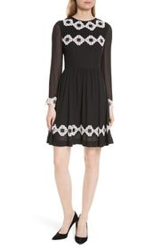 Ted Baker London Avianah Lace Trim Fit & Flare Dre