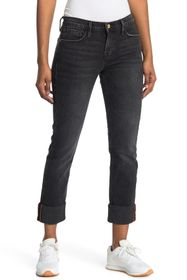 FRAME Le Nik Straight Cuffed Crop Jeans