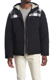 Levi's Faux Shearling Lined Trucker Puffer Jacket