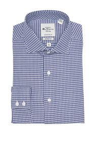 Ben Sherman Navy Dobby Gingham Slim Fit Dress Shir