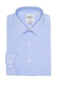 Ben Sherman Light Blue Diamond Dobby Check Slim Fi