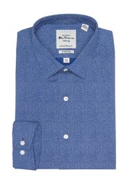 Ben Sherman Royal Blue Tossed Square Slim Fit Dres