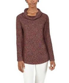 Natural Reflections Willow Cowl-Neck Long-Sleeve S