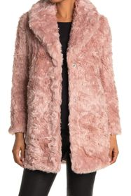 KENDALL AND KYLIE Curly Faux Fur Jacket