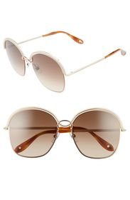 Givenchy 58mm Round Sunglasses
