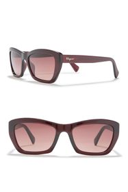 Salvatore Ferragamo 55mm Rectangular Cateye Sungla