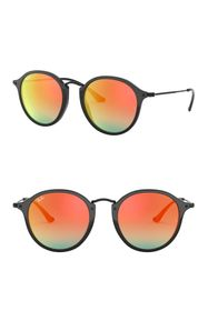 Ray-Ban Phantos Icons 49mm Round Sunglasses