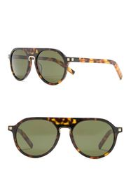 Ermenegildo Zegna 58mm Aviator Sunglasses