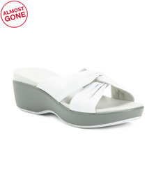 Premium Leather Knotted Slide Sandals