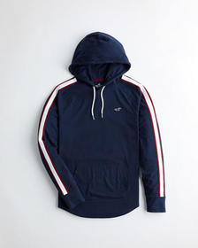 Hollister Must-Have Hooded T-Shirt, NAVY