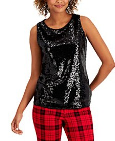 Sequined Tank Top, Created for Macy's