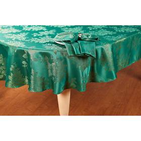 Metallic Holiday Damask Tablecloth