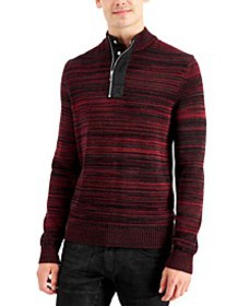 INC Men's Atrack Half-Zip Sweater, Created for Mac