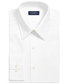 Men's Classic/Regular-Fit Solid Dress Shirt, Creat