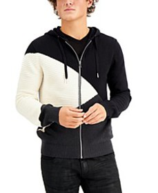 INC Men's Colorblocked Hooded Sweater, Created for