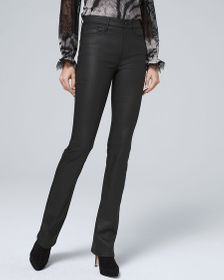 High-Rise Coated Bootcut Jeans