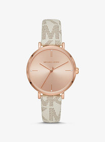 Michael Kors Oversized Jaryn Rose Gold-Tone and Lo
