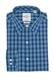 Ben Sherman Teal & Navy Gingham Slim Fit Dress Shi