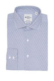 Ben Sherman Navy & Teal Micro Dot Print Slim Fit D