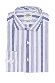 Ben Sherman Wide Blue Dobby Stripe Slim Fit Dress