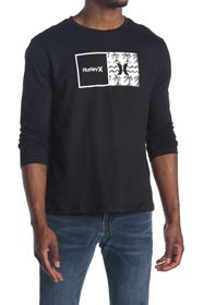 Hurley Graphic Print Jersey Long Sleeve Tee