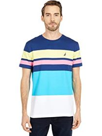 Nautica Short Sleeve Fashion Stripe Tee