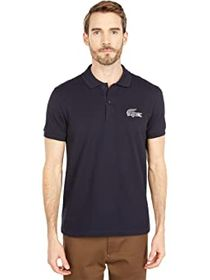 Lacoste Short Sleeve Solid with Graphic Croc