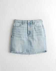 Hollister Ultra High-Rise Denim Skirt, MEDIUM