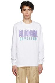 Billionaire Boys Club - White Straight Logo Long S