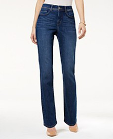 Tummy-Control Straight-Leg Jeans, Created for Macy