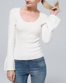 Ribbed Scoopneck Sweater