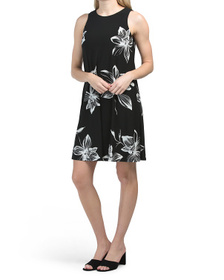 Gwen Printed Spaced Floral Dress