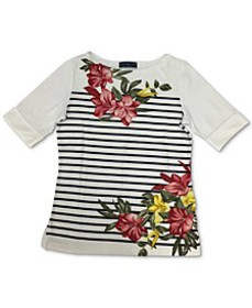 Printed Boatneck Top, Created for Macy's