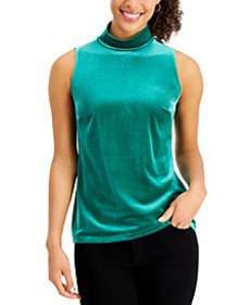 Sleeveless Mock Neck Top, Created for Macy's