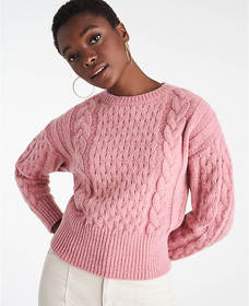Ribbed Cable Sweater