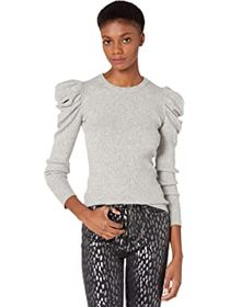 7 For All Mankind Long Sleeve Puff Crew Neck