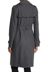 DKNY Belted Wool Trench